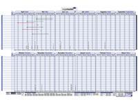 Vakantieplanner 2021/2022 LM 60X90CM april/maart gelamineerd
