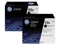 TONERCARTRIDGE HP 55X CE255XD 12.5K ZWART
