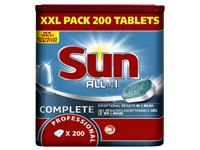 Vaatwastabletten Sun All-in-one 200 stuks