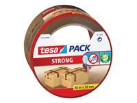 Verpakkingstape Tesa 50mmx66m bruin blister PP
