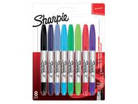 VILTSTIFT SHARPIE TWIN TIP ROND 0,5MM EN 0.9MM ASS