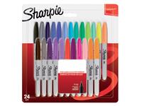 Viltstift Sharpie rond 0.9mm blister à 24 stuks assorti
