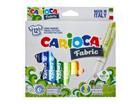 Viltstiften Carioca Textiel set à 12 kleuren