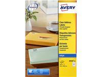 Etiket Avery J8560-25 63.5x38.1mm transparant 525stuks