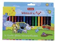 Kleurpotlood Bruynzeel Woezel & Pip dik 16 kleuren
