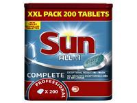 Vaatwastabletten Sun All-in-one 200 stuks