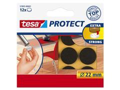 Beschermvilt Tesa antikras 57893 22mm rond bruin