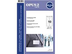 Badgekaart Opus 2 54x90mm 180gr wit