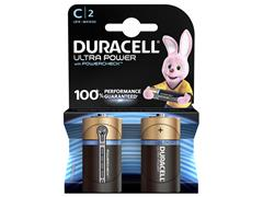 BATTERIJ DURACELL C ULTRA POWER MX1400 ALKALINE