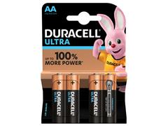 Batterij Duracell Ultra Power 4xAA