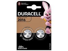 Batterij Duracell knoopcel 2xCR2016 lithium Ø20mm 3V-90mAh