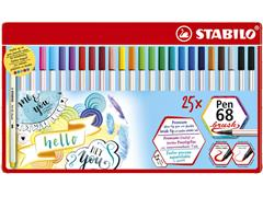 Brushstift STABILO 568/25-321 blik à 25 stuks