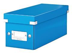 CD-BOX LEITZ WOW CLICK&STORE 143X136X352MM BLAUW