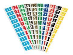 Code-tabs voor Jalema Secolor mappen 0-9 zelfklevend 300st