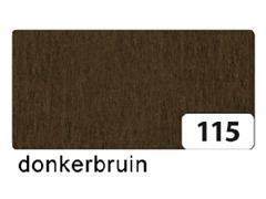 Crepepapier Folia 250x50cm nr115 donkerbruin