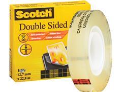 Plakband Scotch 665 12mmx22.8m dubbelzijdig