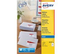 Etiket Avery J8159-10 63.5x33.9mm wit 240stuks