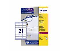 Etiket Avery L7160-250 63.5x38.1mm wit 5250stuks