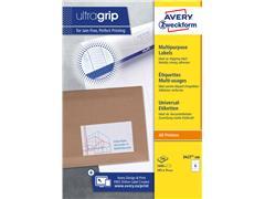 Etiket Avery Zweckform 3427 105x74mm wit 1600stuks