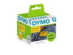Etiket Dymo 2133400 labelwriter 54x101mm badgelabel zwart/geel 220stuks