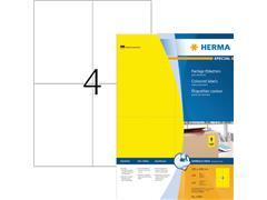 Etiket Herma 4396 105x148mm A6 geel 400stuks