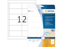 Etiket Herma 4682 96.5x42.3mm 300st folie transparant