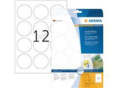 Etiket Herma 5067 rond 60mm verwijderbaar wit 300stuks