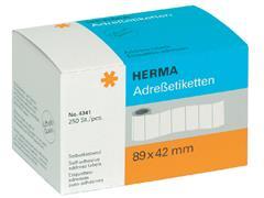 Etiket Herma adres 4341 89X42Mm 250stuks op rol