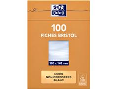 FLASHCARD OXFORD 105X148MM 210GR 100VEL BLANCO WIT