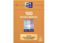FLASHCARD OXFORD 105X148 210GR 100VEL RUIT ASS