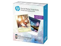 Fotopapier HP W2G60A 10x13cm zelfklevend 265gr