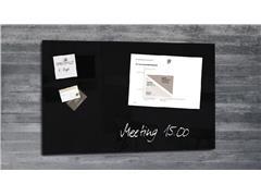 Glasbord Sigel magnetisch 780x480x15mm zwart