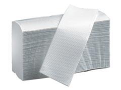 Handdoek PrimeSource Maxi I-vouw 2laags 20x32cm wit 20x150st