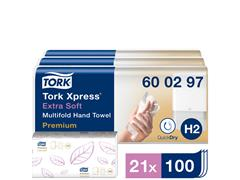 Handdoek Tork H2 600297 Premium 2laags 21x34cm 7x100st
