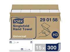 Handdoek Tork H3 290158 Universal ZZ 1laags 23x23cm 15x300st
