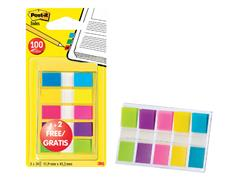 Indextabs 3M Post-it 6835 11.9x43.1mm 3+2 gratis assorti