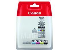 Inktcartridge Canon CLI-581 zwart + 3 kleuren