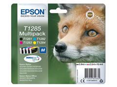 INKCARTRIDGE EPSON T1285 ZWART + 3 KLEUREN