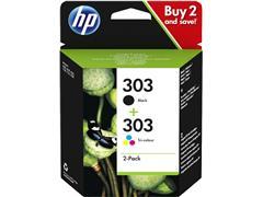 Inktcartridge HP 3YM92AE 303 zwart + kleur