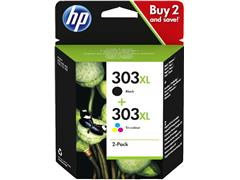 Inktcartridge HP 3YN10AE 303XL zwart + kleur HC