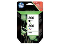 Inktcartridge HP CN637EE 300 zwart + kleur