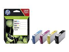 Inktcartridge HP N9J73AE 364 zwart + 3 kleuren