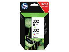 Inktcartridge HP X4D37AE 302 zwart+kleur