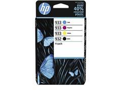 Inktcartridge HP 6ZC71AE 932 933 zwart + 3 kleuren