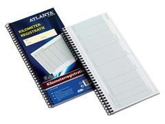 Kilometer registratieboek Atlanta 40x2vel met spiraal