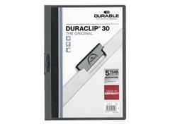 Klemmap Durable 2200 A4 3mm antraciet/grijs