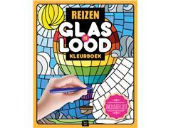 Kleurboek Interstat volwassenen glas in lood thema reizen