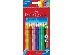 Kleurpotloden Faber Castell Jumbo Grip set à 12 stuks assorti