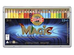 Kleurpotloden Koh-i-Noor Jumbo Magic doos 24 kleuren