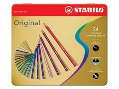 Kleurpotloden STABILO Original blik à 24 kleuren